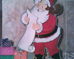 Santa para puerta en foami
