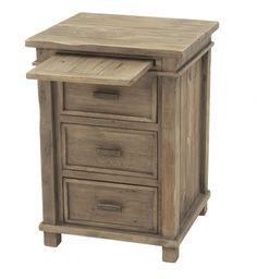 Brendlen + Morris - Settler Sundried Ash 3 Drawer Bedside Cabinet #sidetable