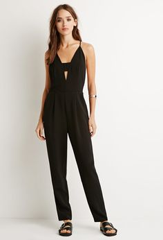 Cutout Y-Back Jumpsuit - Jumpsuits & Playsuits - 2000096359 - Forever 21 EU English