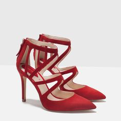 CROSSOVER LEATHER HIGH HEEL SHOES-View all-Shoes-WOMAN | ZARA United States