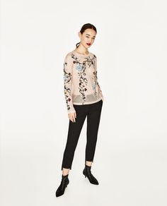 ZARA - WOMAN - EMBROIDERED TULLE T-SHIRT