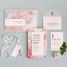 Dreamy vibes. Feeling fresh and ready to welcome the new year! This lovely invite styled by @type_a_society created by @yonderdesign and shot by @sylviegil. Love this and love that little #themrsbox hanging out!