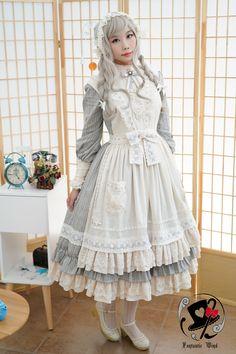 【幻之风原创lolita】~牧羊少女~复古优雅cla系棉质围裙【定金】-淘宝网全球站