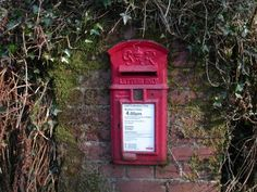 Post box at Lud Gate, on the edge of Dartmoor