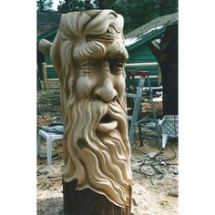 Chain Saw Tree Carving | Chainsaw Carving - Tree Spirit. | Outside living