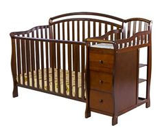 Dream on Me Hailee 5-in-1 Crib and Dressing Table Combo, Espresso