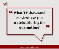 What TV shows and movies have you watch during quarantine?  #VirtualLove #VirtualTribe #SafeAtHome #StoptheSpread Virtual Assistant Services, Tv Shows, Watch, Movies, Life, Films, Clock, Movie, Film