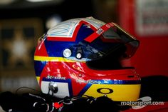 Helmet of Juan Pablo Montoya, Earnhardt Ganassi Racing Chevrolet at Atlanta High-Res Professional Motorsports Photography Helmet Paint, Racing Helmets, Tony Stewart, Helmet Design, Karting, Elmo, Buckets, Headgear, Nascar