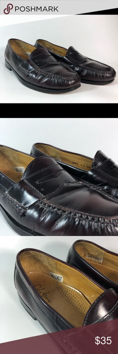 Cole Haan Men's Brown Penny Loafers Slip On Shoes Cole Haan Men's Brown Penny Loafers Slip On Shoes Size 8   Size 8 D Brown Slip ons Some creasing at the toe from wear  Good pre-owned condition Smoke free home! Cole Haan Shoes Loafers & Slip-Ons