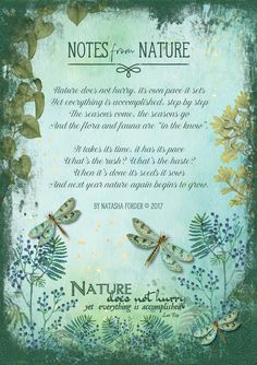 https://flic.kr/p/U5esrN | Notes from Nature | Poem my own.  Created with the following beautiful kits by Lynne Anzelc Designs: The Magic of Nature The Magic of Nature Wordart Textured Grungy Overlays
