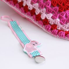 Pacifier holder    baby elephant    Speenkoord olifant