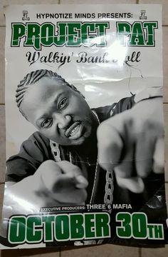 HUGE RARE VINTAGE Project Pat Walking Bankroll Poster 36 MAFIA MEMPHIS