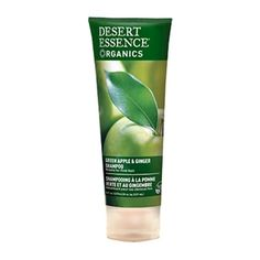 Green Apple and Ginger Shampoo 8 Oz by Desert Essence Coconut Oil Cleanser, Emergency Preparedness Items, Desert Essence, Ginger Extract, Thickening Shampoo, Wet Hair, Jojoba Oil, Up Hairstyles, Health And Beauty