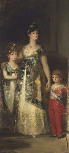 La regina di Spagna con i principi. Copia da Goya //  Mariano Fortuny y Madrazo