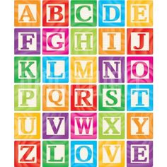wall mural alphabet baby block vector baby blocks set 1 of 3 capital letters alphabet easy installation 365 day money back guarantee browse