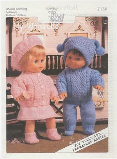 Herbie's Doll Sewing, Knitting & Crochet Pattern Collection: Vintage King Cole Knitting Pattern Number 7130 For. Herbie's Doll Sewing, Knitting & Crochet Pattern Collection: Vintage King Cole Knitting Pattern Number 7130 For. Knitted Doll Patterns, Knitting Patterns Boys, Knitted Dolls, Crochet Dolls, Baby Patterns, Crochet Preemie Hats, Pattern Sewing, Retro Pattern, Crochet Patterns