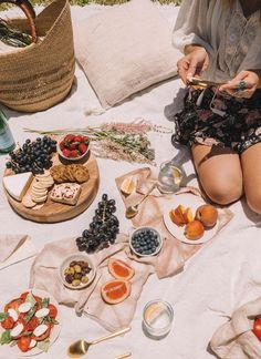 Picnic with a cheese plate and fresh fruit Picnic Photography, Food Photography Styling, Photography Ideas, Picnic Date, Summer Picnic, Beach Picnic Foods, Picnic Menu, Food Styling, Quiche Vegan