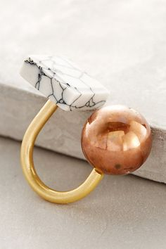 """Brass & Clay Ring by Berry 