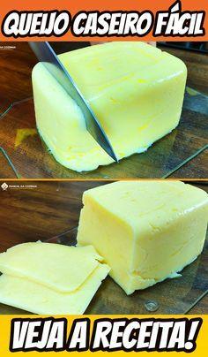 QUEIJO CASEIRO MUITO FÁCIL DE FAZER E RENDE MUITO! #queijo #queijocaseiro #queijocaseirofacil #acompanhamento #manualdacozinha