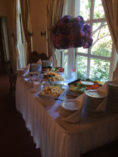 Appetizer station at the #kellogghouse #appetizers #foodtime #buffet