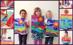 Classroom Art Projects, Easy Art Projects, Art Classroom, Kids Art Class, Art For Kids, Kids Art Party, Famous Artists For Kids, 4th Grade Art, Grade 2