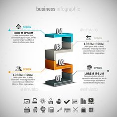 Business Infographic — Photoshop PSD #colorful #symbol • Available here → https://graphicriver.net/item/business-infographic/11667140?ref=pxcr