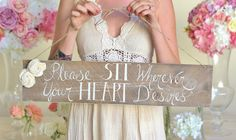 Rustic Wedding Sign No Seating Plan NEW 2014 Design by Morgann Hill Designs