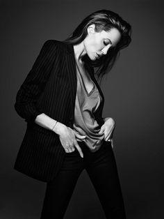 Angelina Jolie for Elle shoot by famed designer Hedi Slimane of Saint Laurent Paris and (formally) Dior Homme+