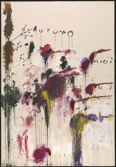 Cy Twombly Quattro Stagioni: Autunno 1993–5   Acrylic paint, oil paint, crayon and graphite on canvas