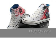 2fa4fb7405787d White All Star CONVERSE Superman Graffiti Painting Canvas Trainer Free  Shipping HEeQiap