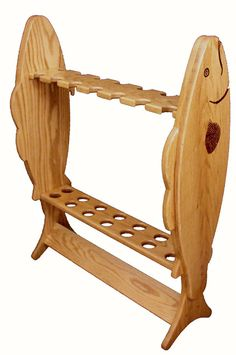 12 Rod Small Fishing Rod Rack | Amish Furniture Factory