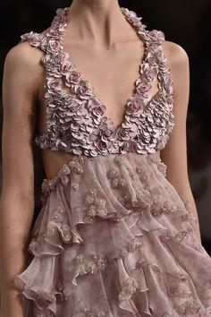 Romantic layering and 3D modern embellishment seen at @WorldMcQueen #SS15 #pfw