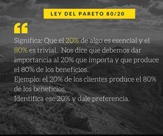 Ley de Pareto Marketing Digital, Pareto, Frases, Productivity, Law