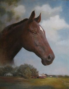 "Mimic  equine art commission  © Karen F Rose  oil on canvas  20x16""  visit www.karenfrose.com"