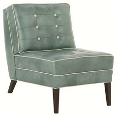 Accent Chairs Architect Armless Contemporary Slipper Chair by Robin Bruce at Becker Furniture World