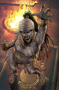 Shop for Grimm Fairy Tales Presents: Van Helsing Vs. the Mummy of Amun-Ra (Cover D Metcalf) from Zenescope Entertainment - written by Joe Brusha. Comic book hits store shelves on May 2017 High Fantasy, Dark Fantasy Art, Fantasy Girl, Fantasy Artwork, Desenhos Halloween, Comic Art, Comic Books, Classic Monsters, Monster Art