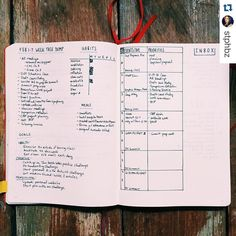 """WEEKLY VIEW  #Repost @stphbz with @repostapp. ・・・ #planwithmechallenge Day 3: When I first started a #bulletjournal, I struggled with just dailies because…"""