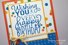 "Stampin' Up! More ""Big on Birthdays"" Happy Inkin' Thursday Blog Hop"
