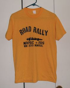 Vintage 1980s road rally tshirt yellow sportT by thriftyoutfitters, $6.00