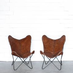Essex Leather Butterfly Chair / Loot Vintage Rentals