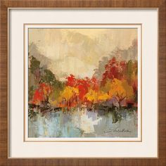 Fall Riverside II Art Print by Silvia Vassileva at Art.com