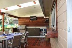 Deck Design Ideas - Photos of Decks. Browse Photos from Australian Designers & Trade Professionals, Create an Inspiration Board to save your favourite images. Pergola Patio, Pergola Kits, Backyard Patio, Pergola Plans, Patio Roof, Pergola Ideas, Patio Deck Designs, Patio Ideas, Carport Designs