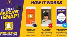Job Applications via Snapchat? McDonald's Tries Out New Initiative | Social Media Today This is just too wierd for me.