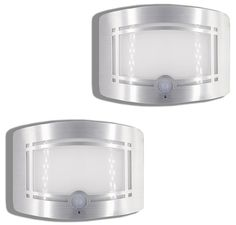 Motion Sensor Auto LED Night Light - Warm White Wireless Wall Sconce Light Controlled by Motion Activated Sensor & Light Sensor - Stick on Anywhere Wireless Battery Powered (Not included) - 2 PCS Pack