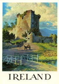 Ireland Travel Poster--I would love to visit Ireland, and learn more about my Irish heritage