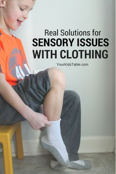 When kids have sensory issues with clothing it can be overwhelming, confusing, and exhausting. Learn why they may have a sensory sensitivity and how you can help them! Plus, ideas for sensory friendly clothing. #sensoryprocessing #sensoryissues #parenting