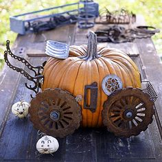 Junk-o'-Lanterns: Use Junk to Decorate Your Pumpkins This Halloween
