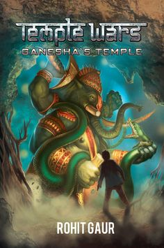 Book cover for Ganesha's Temple. Book 1 of the Temple Wars series.