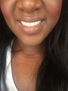 nyx maison lipstick on dark skin 2