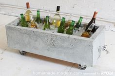 How To: Make a Modern, Trough-Style Concrete Planter/Rolling Cooler » Curbly | DIY Design Community